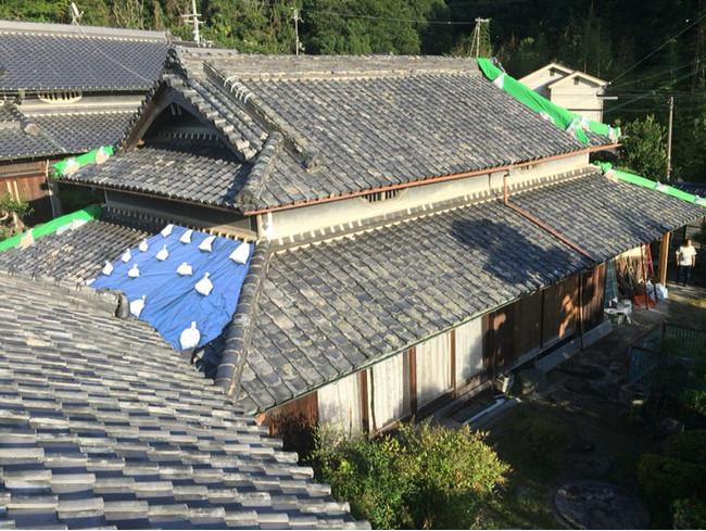 台風被災による築150年の古民家