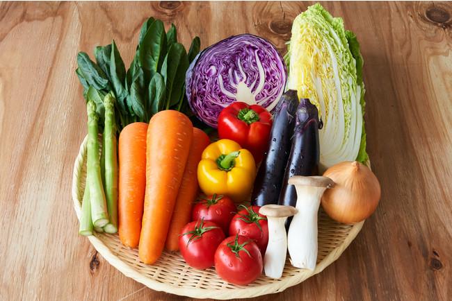 1箱には、10~13種類のお野菜が入っている