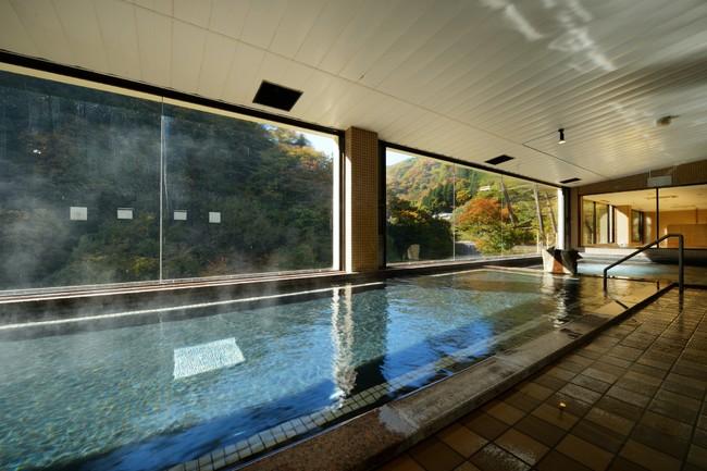 土湯温泉の旅館のお風呂
