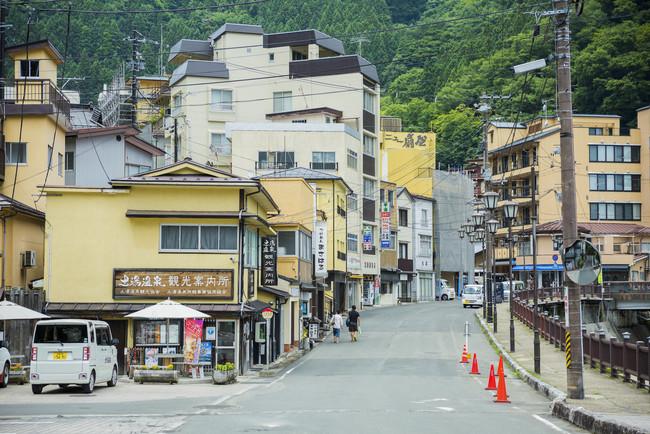 土湯温泉街風景