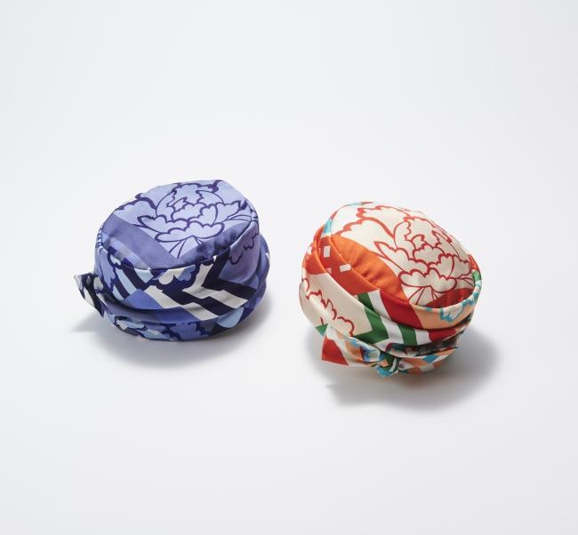 〈千總〉×〈アキオ ヒラタ〉帽子 各123,200円