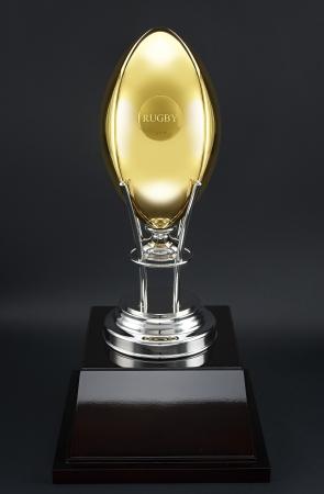 K24 ラグビーボール(5号球サイズ) 高さ約29cm×外周約61cm/重さ約2,800g 38,880,000円(税込)