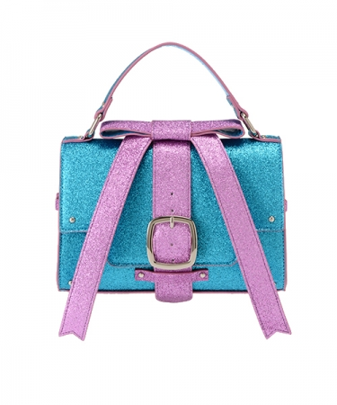 MY LITTLE CANDY RIBBON LAME HAND BAG