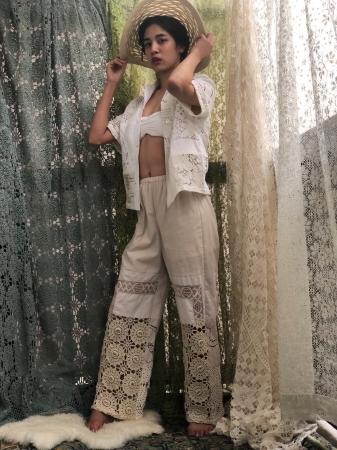 <MALION vintage>crochet lace pants ¥43,200 ※古着を使用したリメイクの為すべてアソートになります。