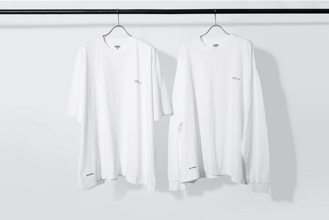 表面 UNTRACE THE BEAUTIFUL CHAOS SHORT SLEEVE, LONG SLEEVE (White×Navy)