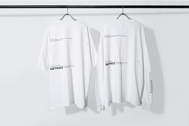 裏面 UNTRACE THE BEAUTIFUL CHAOS SHORT SLEEVE, LONG SLEEVE (White×Navy)