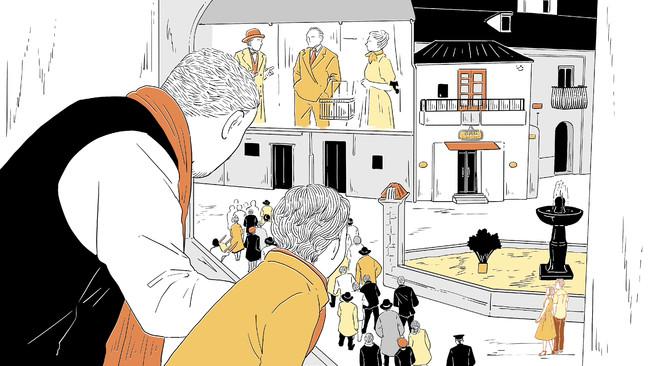イラストレーター・町田李句(まちだ・りく)によるビジュアルイメージ/ニューシネマパラダイス