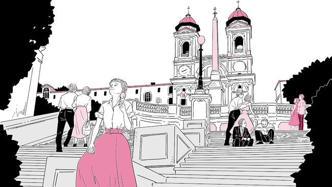 イラストレーター・町田李句(まちだ・りく)によるビジュアルイメージ/ローマの休日