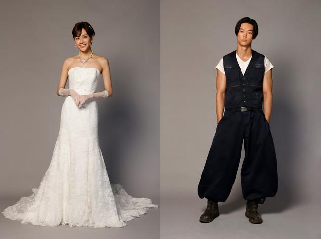 エリート証券マンと結婚間近の仁美(松井愛莉)と、仁美が偶然出会って恋に落ちてしまった ニッカポッカ姿のまなぶ(笠松将)。不釣り合いな二人の恋の行方は・・・? (C)フジテレビ
