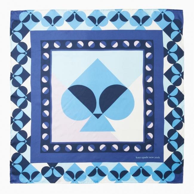 geospade spade square scarf in blue 12,000円 (税抜)