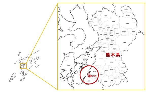 津奈木町 位置図