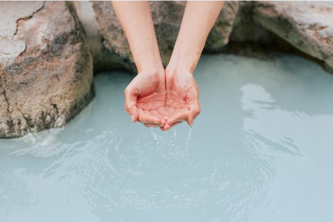 「別府湯の花」を製造している明礬温泉の湯
