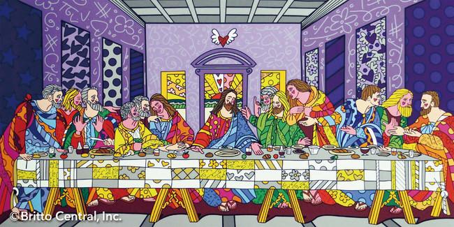 作品名:FIRST SUPPER 言わずと知れたレオナルド・ダ・ビンチのLAST SUPPER(最後の晩餐)をすっかりロメロワールドに仕立て上げたユーモア溢れる作品です。