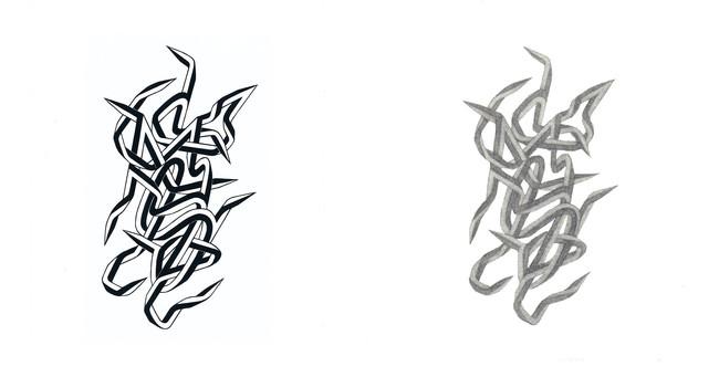 FFIGURATI #335, Screenprint on paper・FFIGURATI #336, Mezzotint on paper, 2021 Artwork (C)︎ Enrico Isamu Oyama