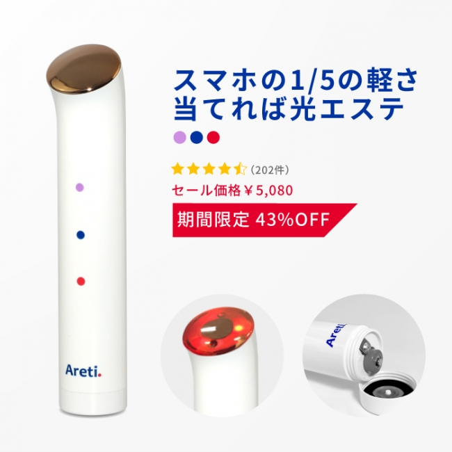 Tricolorリフトアップ 電池式 光美顔器