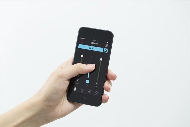 スマートフォン・タブレットで 最適な光量・範囲を簡単調整