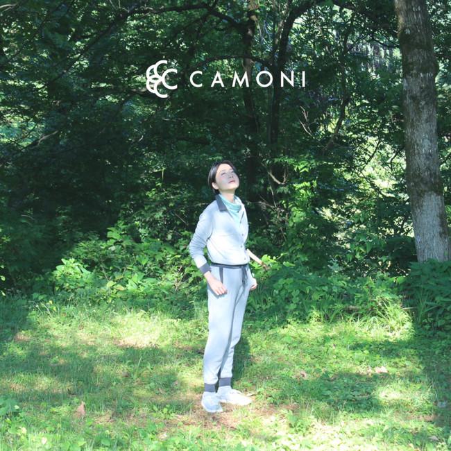 ファクトリーブランド「CAMONI」のイメージビジュアル。 元・宝塚歌劇団月組の輝城みつるさんをモデル起用しました。