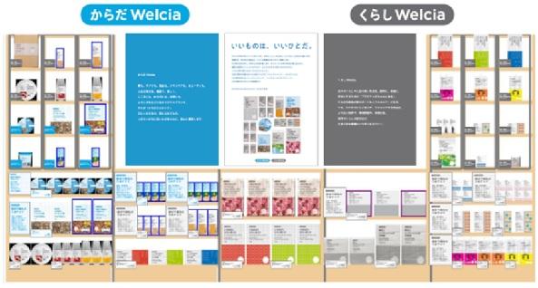 商品見本やサイネージなどで、商品の特性をお伝えするプライベートブランドコーナー