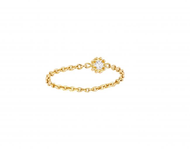 「ミミローズ」リング YG×ダイヤモンド 税抜価格 ¥89,000