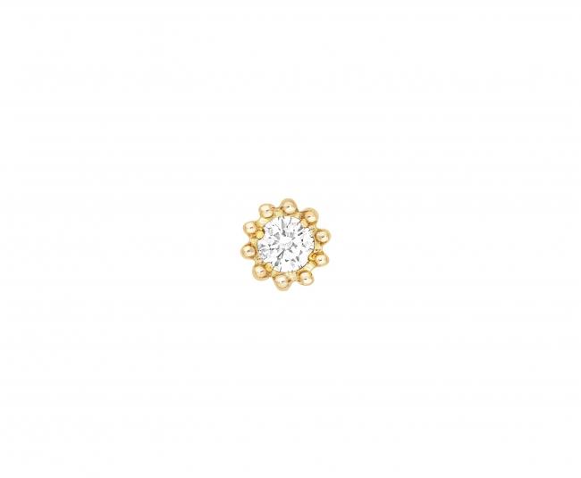 「ミミローズ」シングルスタッズピアス YG×ダイヤモンド 税抜価格¥65,000