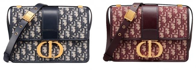 バッグ「30 モンテーニュ」 ディオール オブリーク キャンバス各2色 340,000円