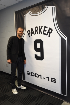 Tony Parker San Antonio Spurs retirement ceremony