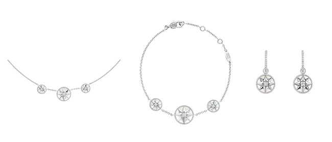 左から:¥420,000 ¥405,000 ¥405,000 (ホワイトゴールド×マザー オブ パール×ダイヤモンド いずれも税抜価格)