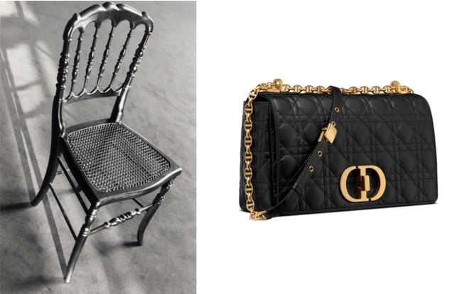 メゾン創業時、ゲストを迎えたナポレオン三世スタイルの椅子。ここから「カナージュ」パターンが誕生した。