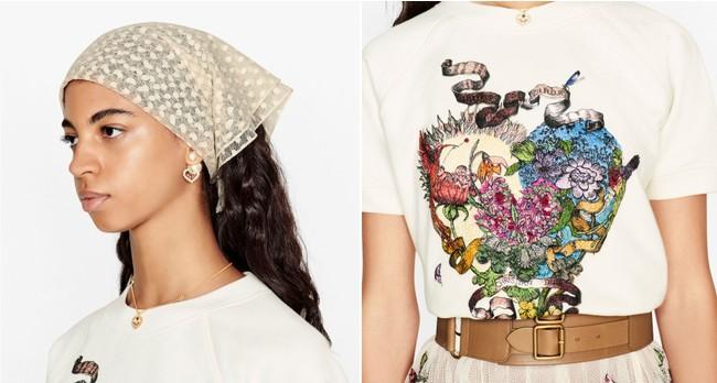 ピアス ¥69,000、Tシャツ ¥97,000