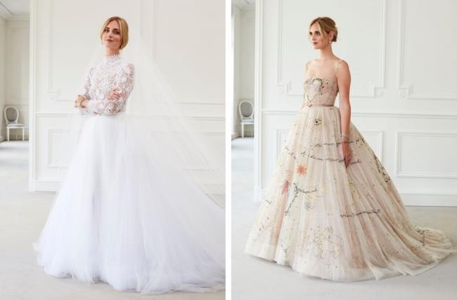 half off 27483 bde93 ディオール】キアラ・フェラーニのためのウェディングドレスを ...
