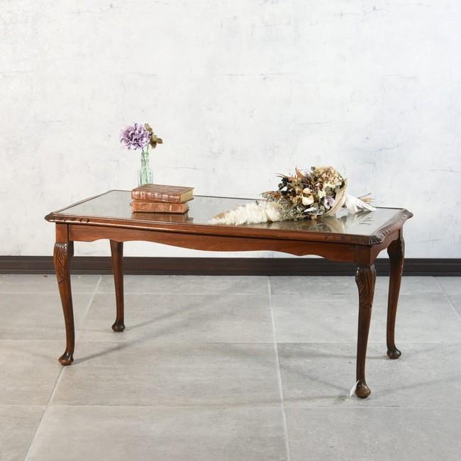 ガラストップテーブル(1950年代頃)