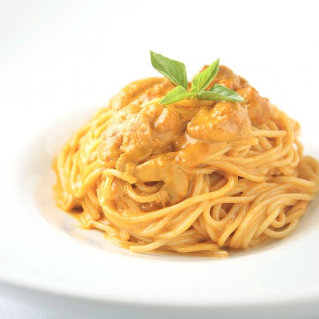 たっぷり北海道産生ウニとクリームソースのスパゲティ