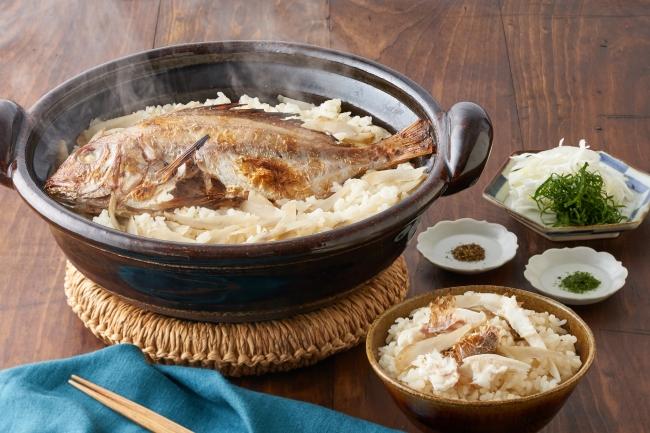 丸ごと天然小鯛の鯛めし(薬味付き)