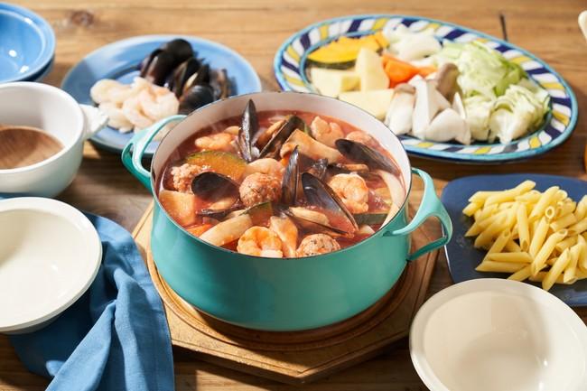 ▲魚介のうまみたっぷり!ペスカトーレ鍋(スペイン)