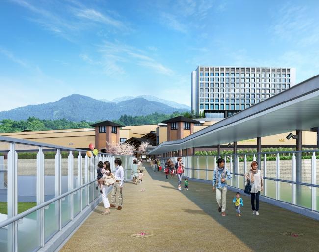 新設の橋からみた「ヒルサイド」イメージ