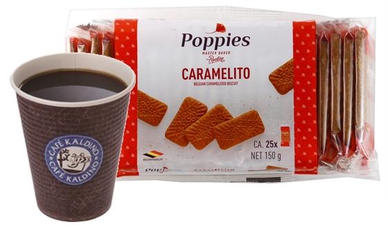 「カフェカルディーノ(R)」のコーヒーとキャラメルクッキー