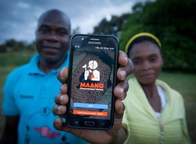 農作物取引アプリ「Maano」 Copyright WFP