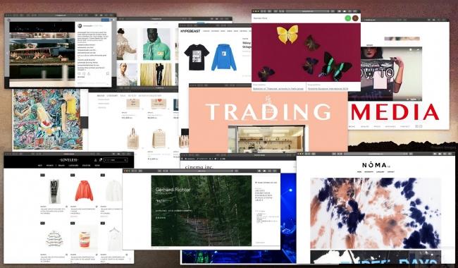 店舗デザインコンセプト「Trading Media」のイメージ