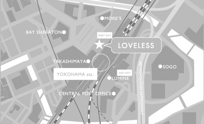 LOVELESS NEWoMAN横浜店地図
