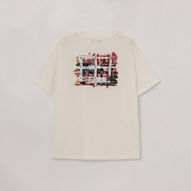 クレストブリッジチェックグラフィックTシャツ BACK