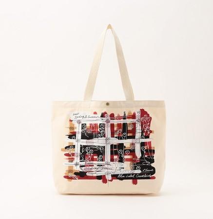 クレストブリッジチェックグラフィックトートバッグ