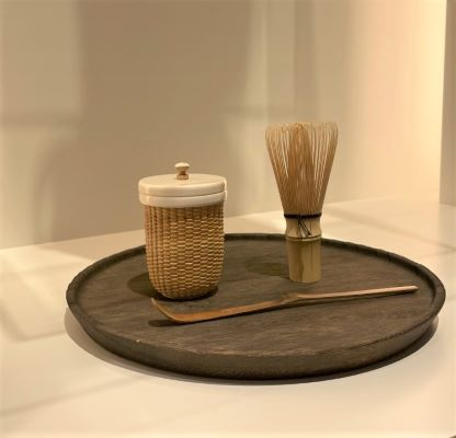 棗(茶入れ・象牙蓋付き)と茶筅、茶杓 ¥165,000