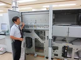 朝日新聞社のデジタル印刷機