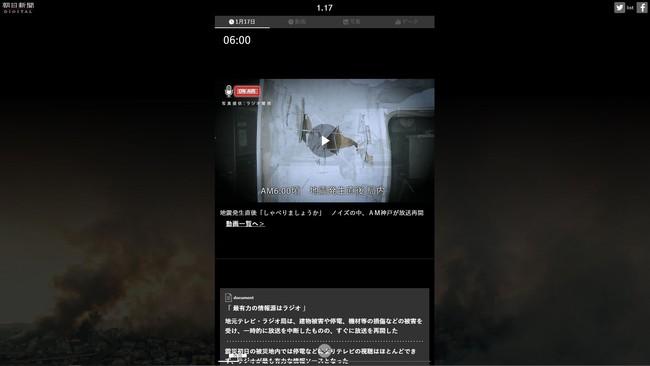 特集「1.17 再現/阪神・淡路大震災」2.