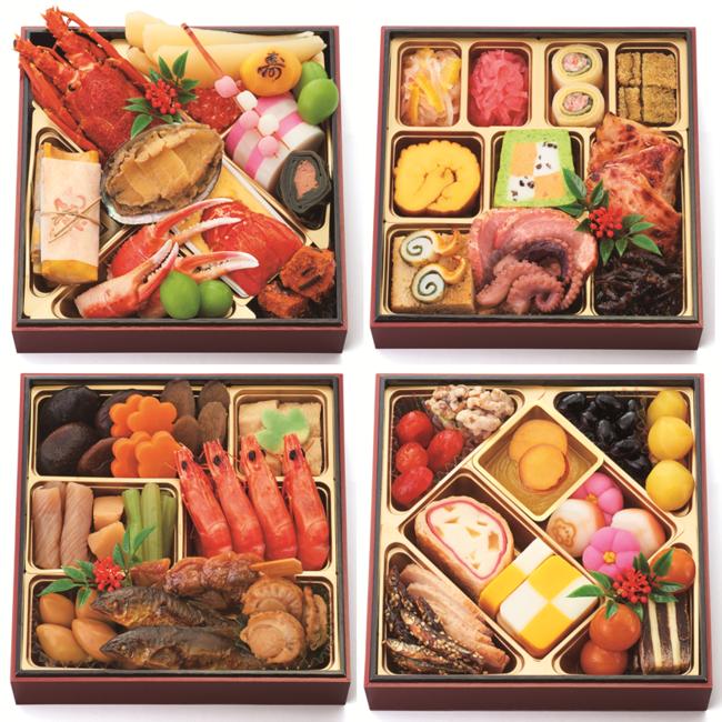 『四段重』価格:30,000円(税込)3~4人用/50品目/冷蔵