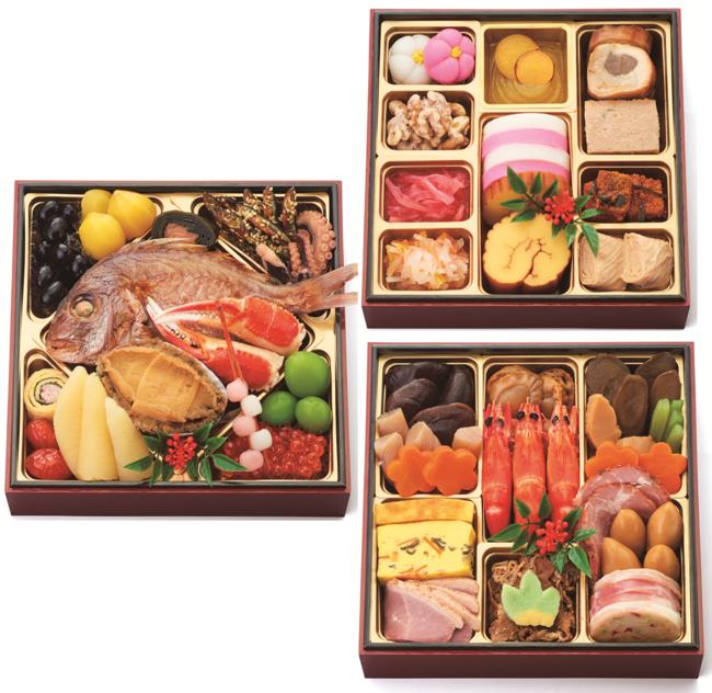 『三段重』価格:20,000円(税込)3~4人用/40品目/冷蔵
