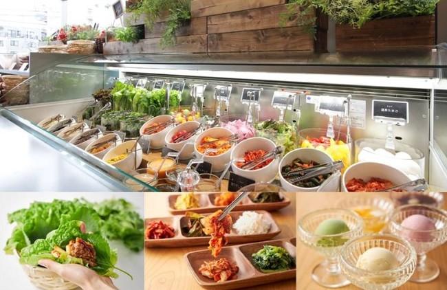 新鮮野菜がたっぷり食べられるサラダバー