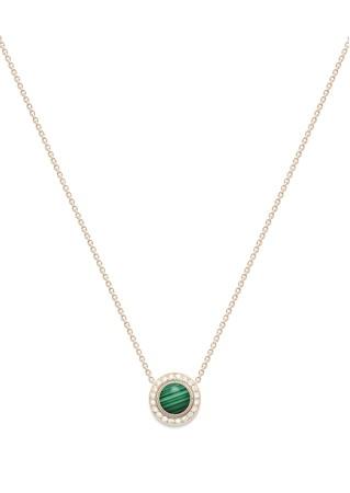 「ポセション」ペンダント 18Kピンクゴールド、マラカイト、ダイヤモンド(約0.28ct) ¥456,000(税抜)