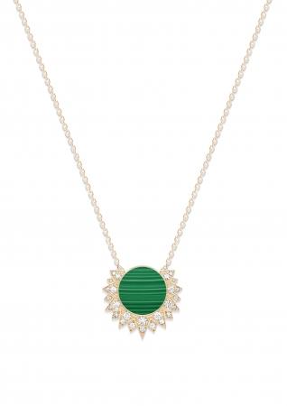 ペンダント (G33R1400) ¥432,000(税抜) 素材:18K ピンクゴールド、マラカイト、ダイヤモンド