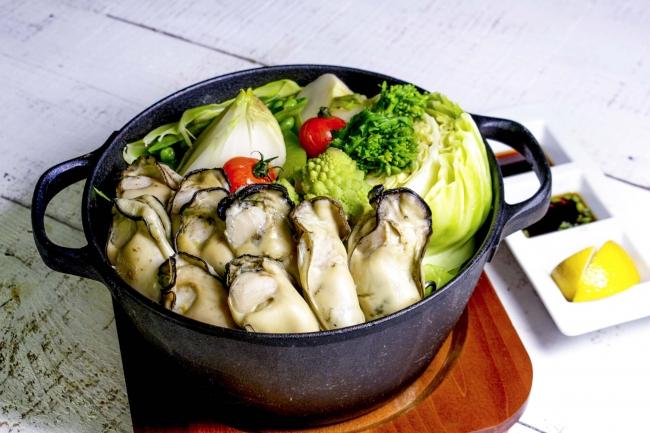 牡蠣と春野菜の豪快蒸し